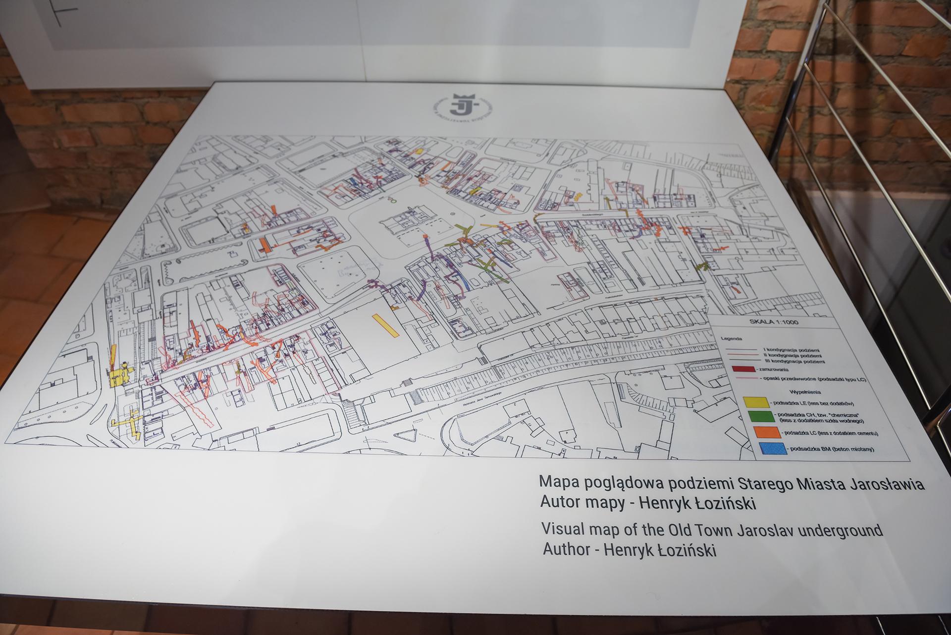 Mapa podziemi miasta Jarosław